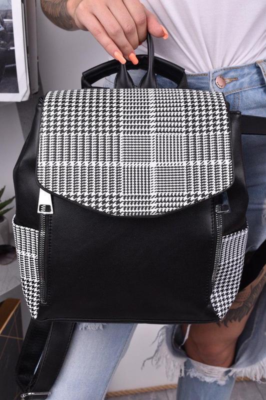 Рюкзак сумка трансформер женский городской для девушек черный - Фото 2