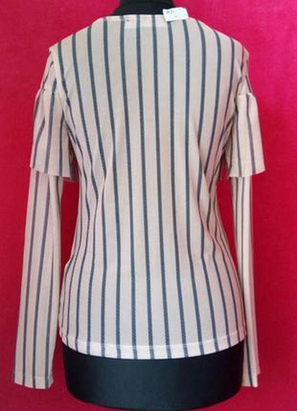 Очень красивая, стильная блуза,цвет пудра,сток - Фото 2