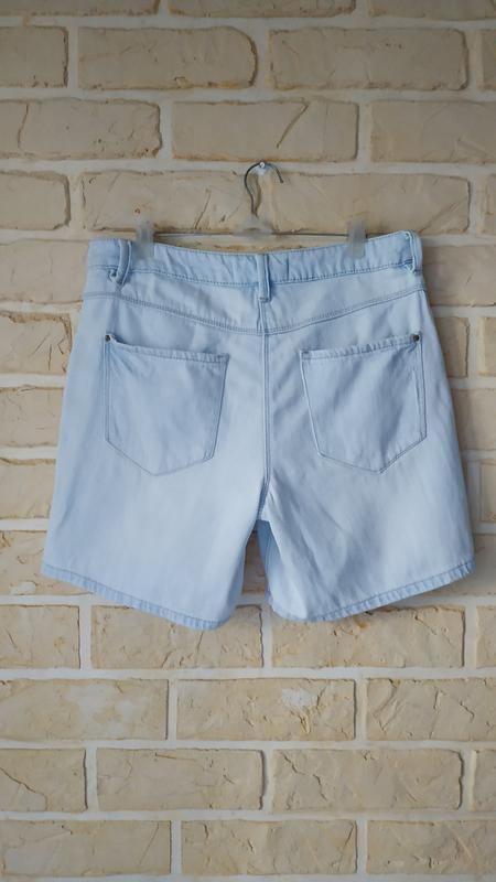 Светлые, джинсовые шорты - Фото 2