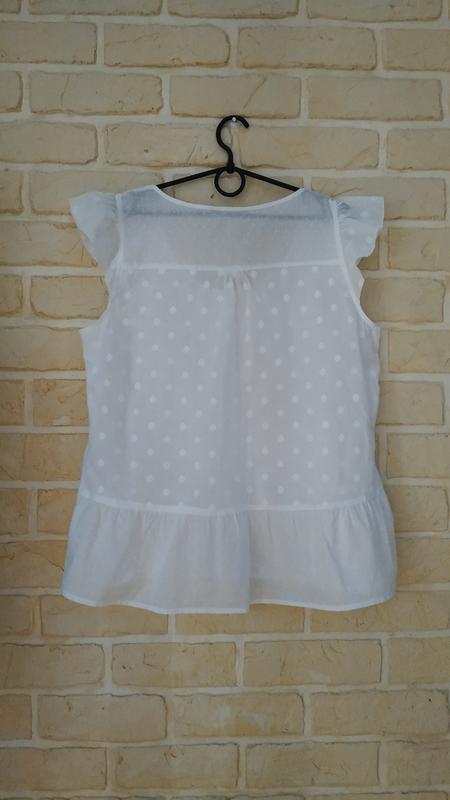 Натуральная, лёгкая, батистовая блуза - Фото 2