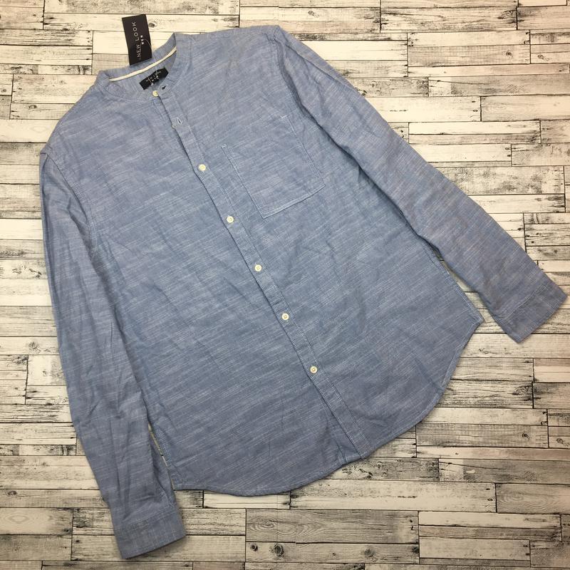 Хлопковая мужская рубашка, джинсовая рубаха, натуральная