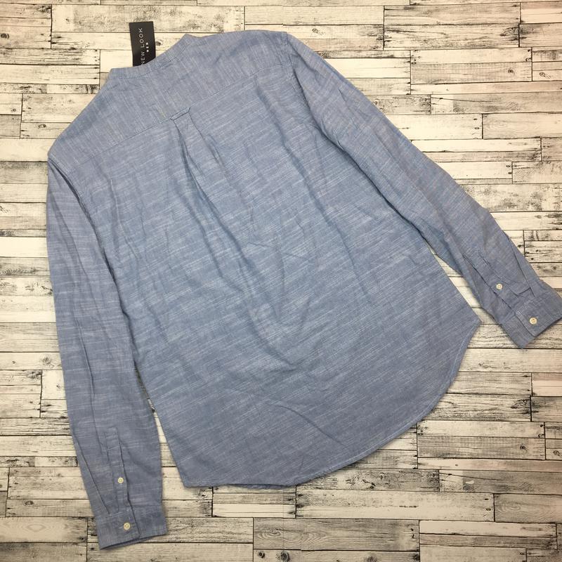 Хлопковая мужская рубашка, джинсовая рубаха, натуральная - Фото 2