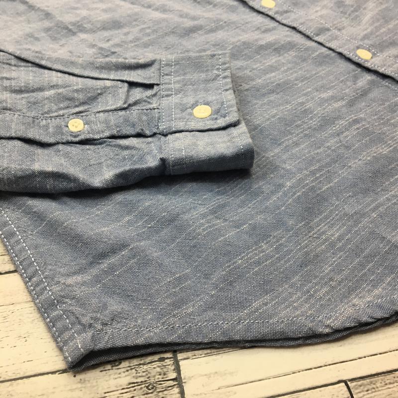 Хлопковая мужская рубашка, джинсовая рубаха, натуральная - Фото 4