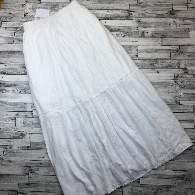 Германия! белая нарядная юбка макси, в пол из вискозы, - Фото 4