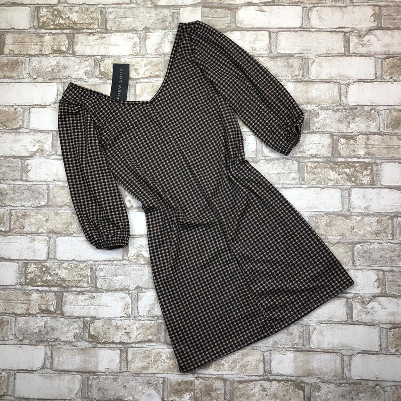Стильная удлиненная блуза, туника в клетку, - Фото 3