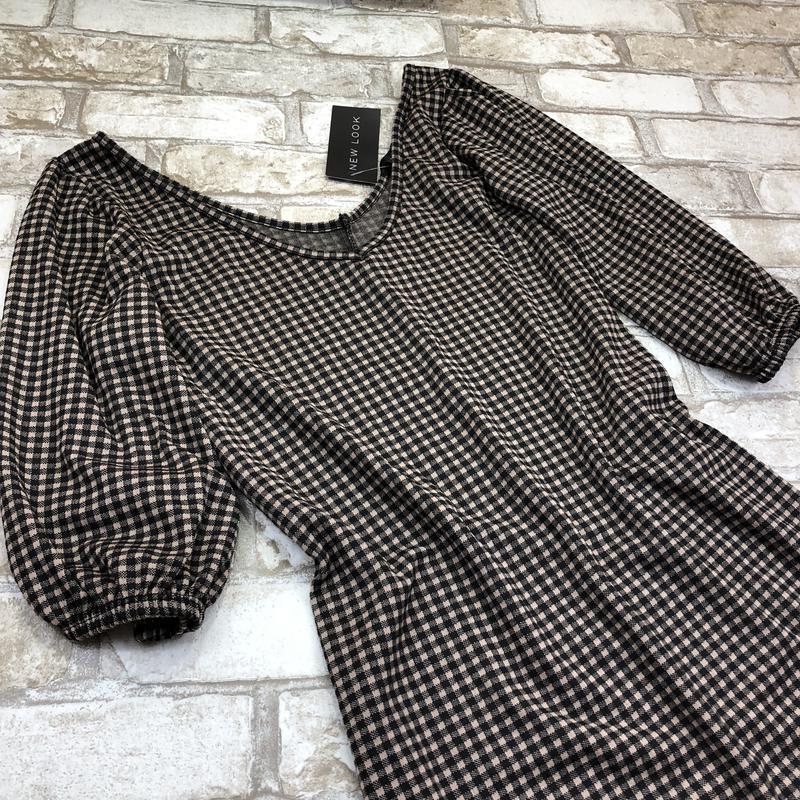 Стильная удлиненная блуза, туника в клетку, - Фото 4