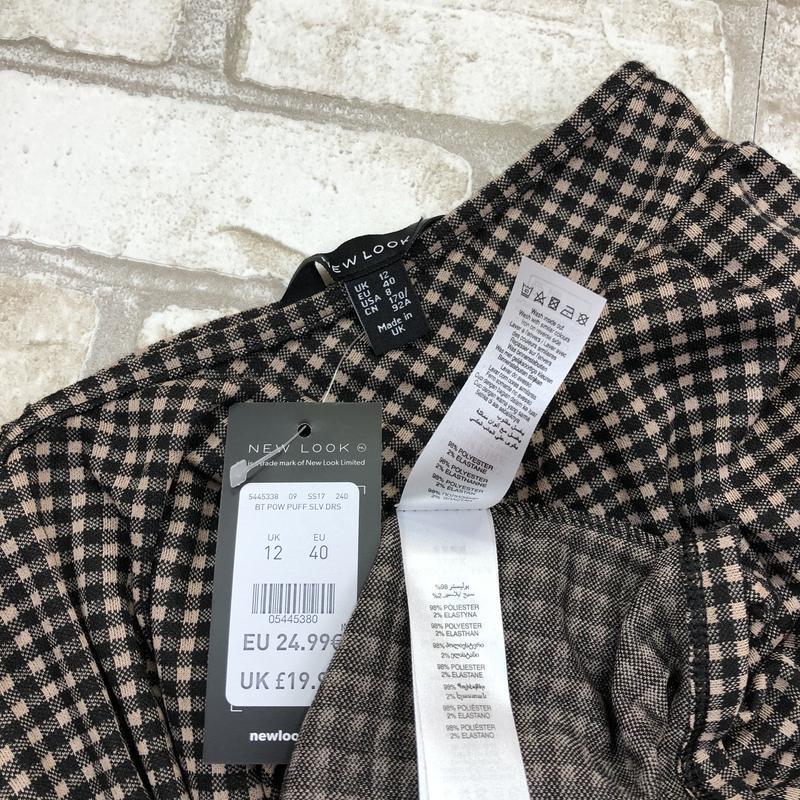 Стильная удлиненная блуза, туника в клетку, - Фото 5