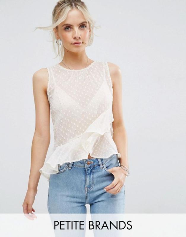 Нежная невероятно красивая шифоновая блуза с воланом, топ с рю...