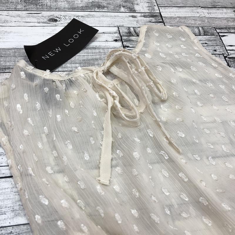 Нежная невероятно красивая шифоновая блуза с воланом, топ с рю... - Фото 2