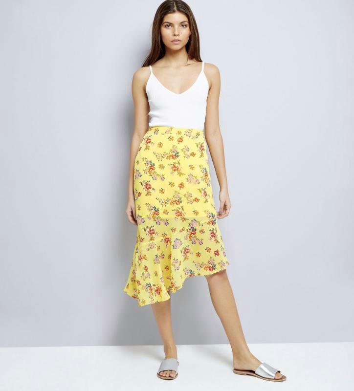 Яркая легкая воздушная шифоновая юбка разной длины в цветах с ...