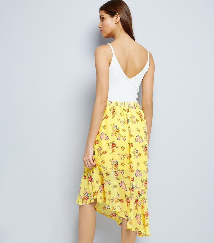Яркая легкая воздушная шифоновая юбка разной длины в цветах с ... - Фото 2