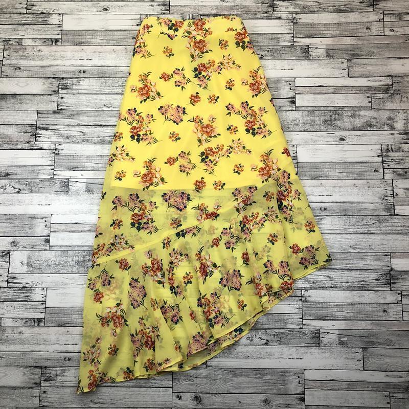 Яркая легкая воздушная шифоновая юбка разной длины в цветах с ... - Фото 3
