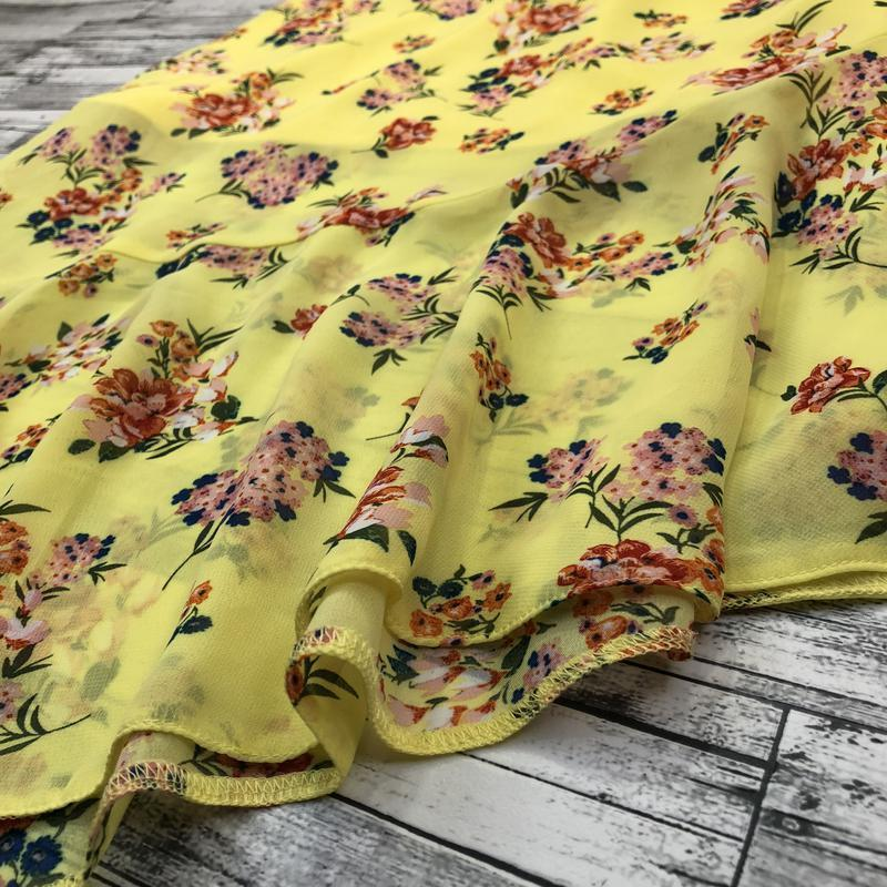 Яркая легкая воздушная шифоновая юбка разной длины в цветах с ... - Фото 4