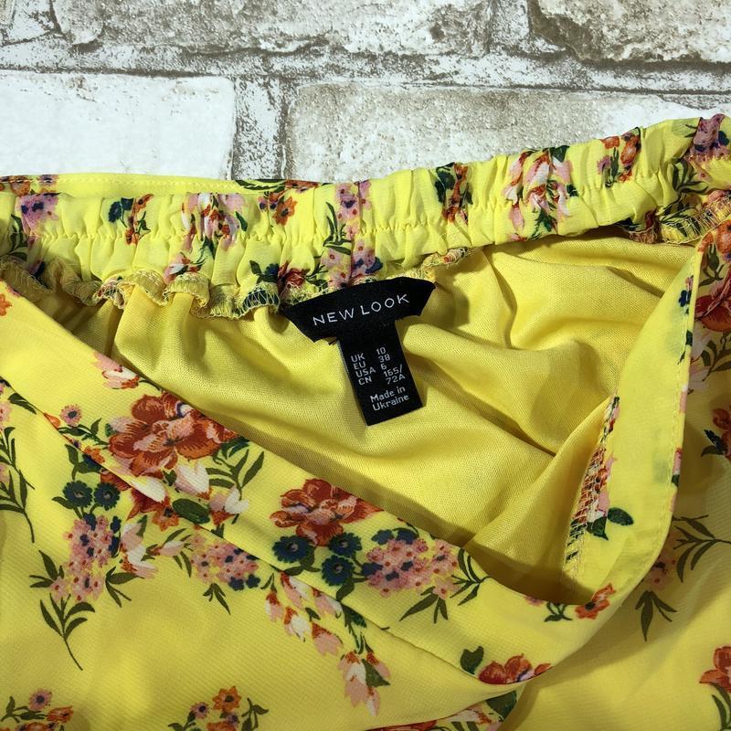 Яркая легкая воздушная шифоновая юбка разной длины в цветах с ... - Фото 5