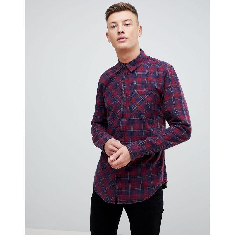 Стильная мужская рубашка с карманом в клетку, хлопковая, байко...