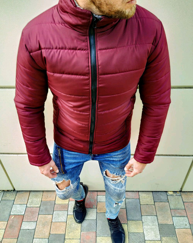 Мужская зимняя куртка без капюшона - Фото 4