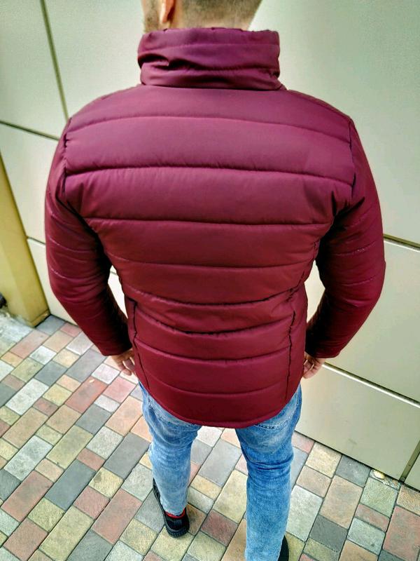 Мужская зимняя куртка без капюшона - Фото 8