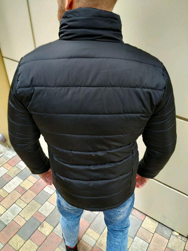 Мужская зимняя куртка без капюшона - Фото 6