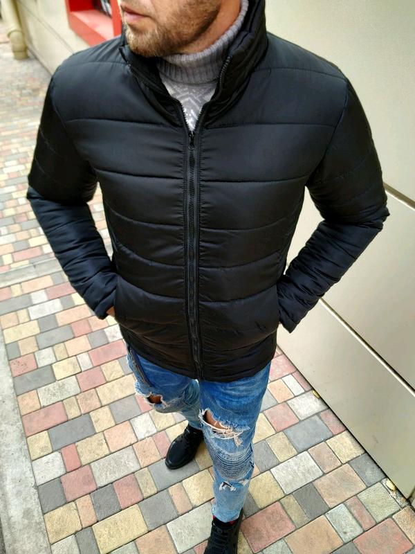Мужская зимняя куртка без капюшона - Фото 2