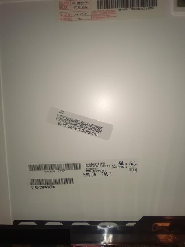 Матрица ноутбука Samsung r55 b154ew02 v1 с модулем подсветки - Фото 2