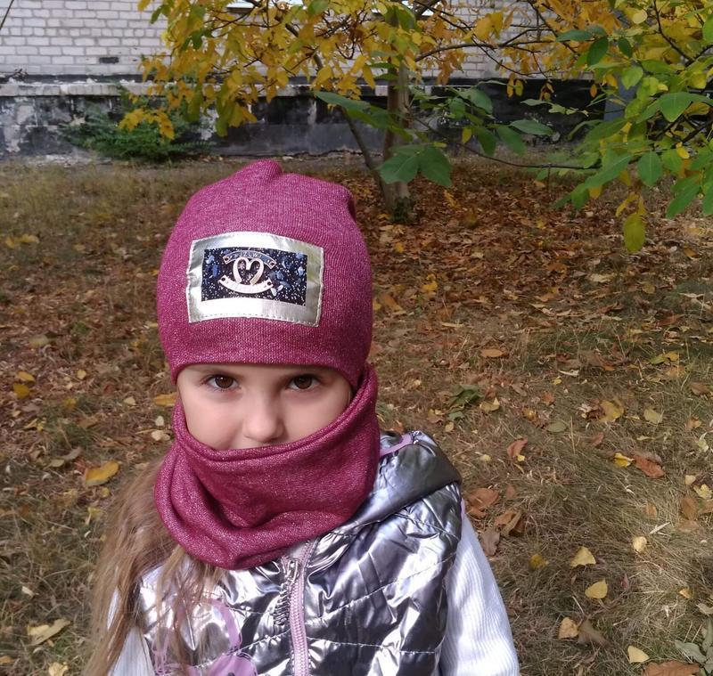Комплект шапка+хомут детская - Фото 3