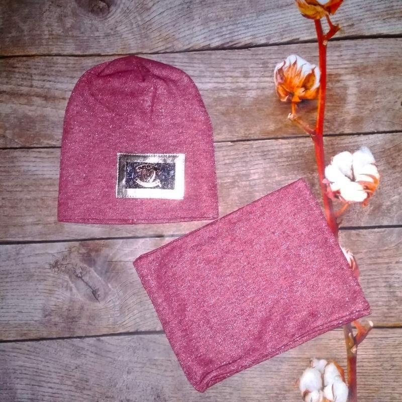 Комплект шапка+хомут детская - Фото 4