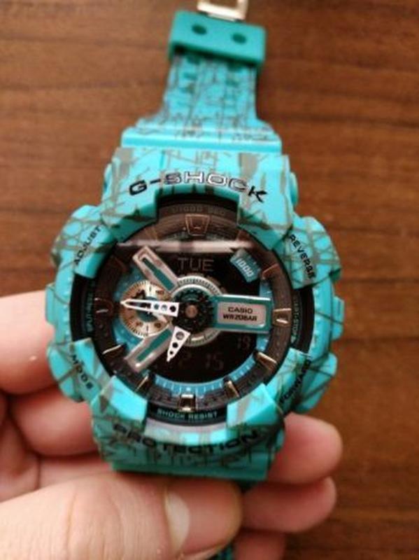 Часы мужские наручные Casio GA-110HC кварцевые + электронные