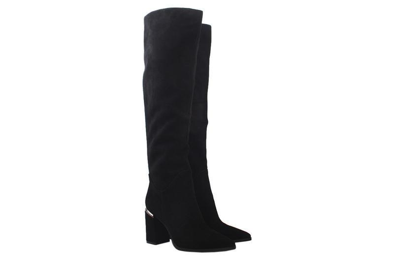 Ботфорты   зимние maria moro острый носок, натуральная замша, ...