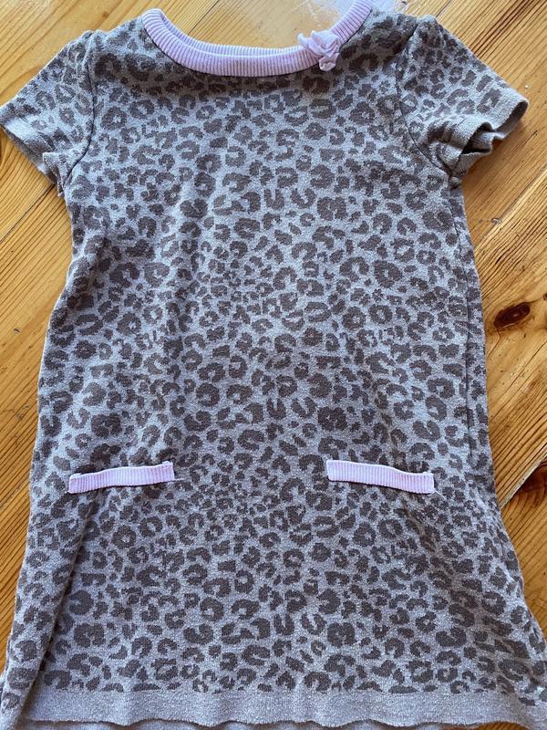 Платье на девочку 98-104 леопардовое