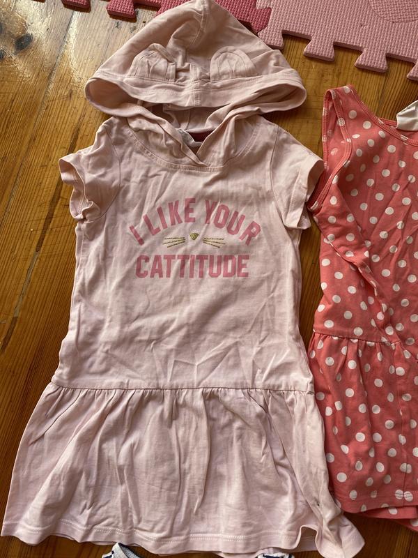 Розовое платье на лето 92р. h&m