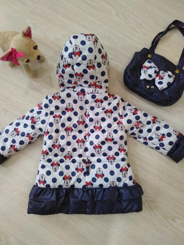 "♥ куртка ""минни"" в комплекте с сумочкой - весна/осень  ♥ - Фото 2"