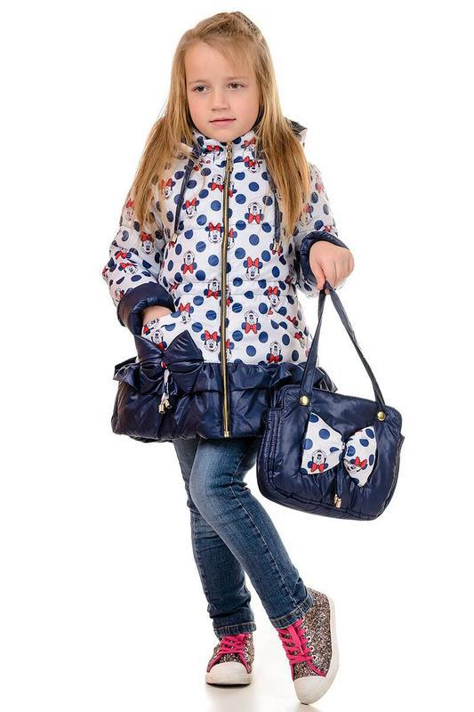 "♥ куртка ""минни"" в комплекте с сумочкой - весна/осень  ♥ - Фото 3"