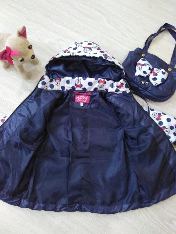 "♥ куртка ""минни"" в комплекте с сумочкой - весна/осень  ♥ - Фото 6"