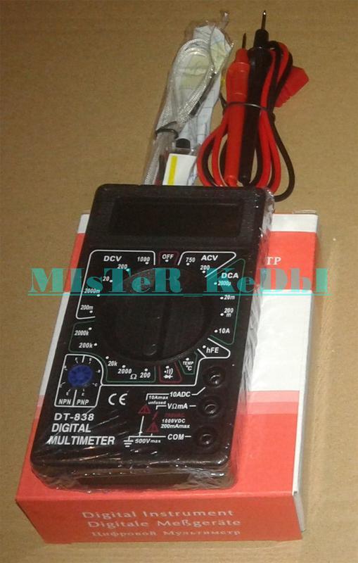 Цифровой мультиметр DT-838 + измерение температуры в Запорожье