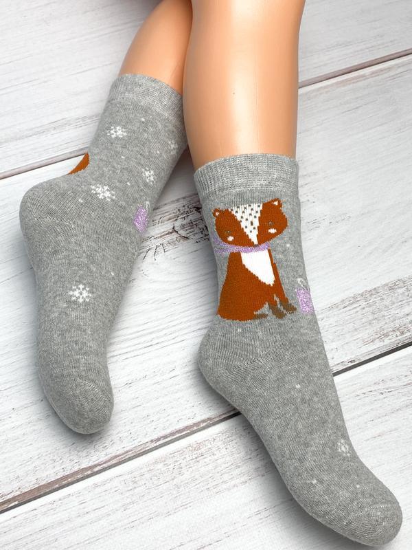 Махровые бесшовные носочки ekinoks для девочки