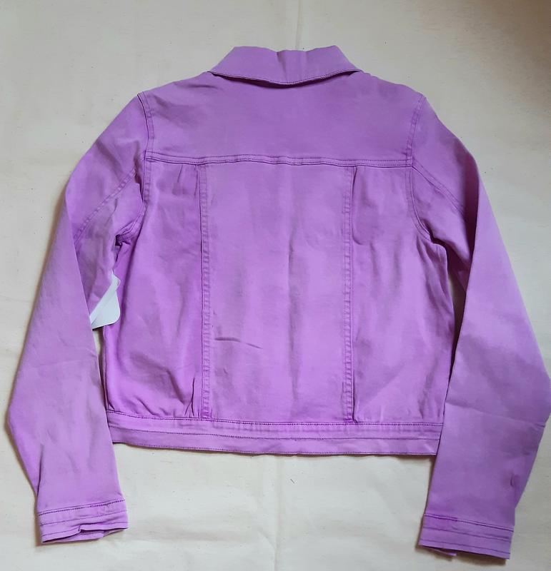 Лилово розовая джинсовая куртка bizzy германия на 13-14лет (15... - Фото 3
