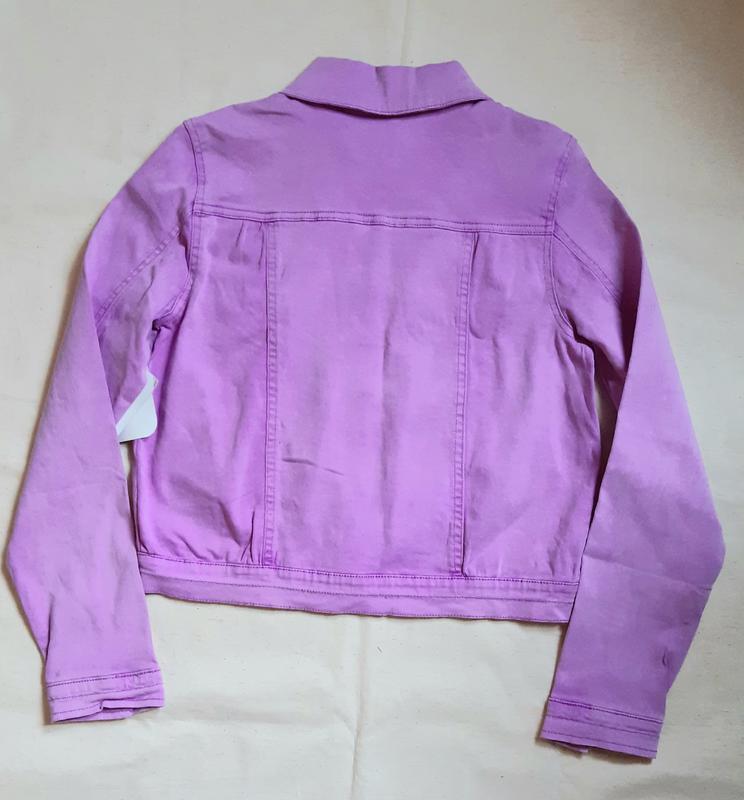 Лилово розовая джинсовая куртка bizzy германия на 13-14лет (15... - Фото 4