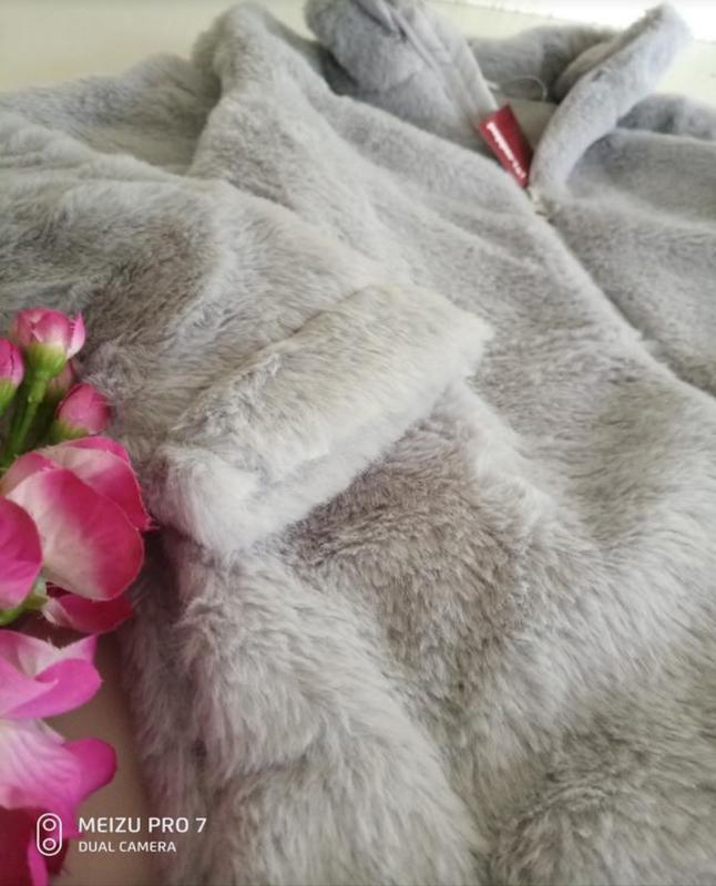 Тепленькая плюшевая куртка шубка от немецкого бренда pepperts ... - Фото 3