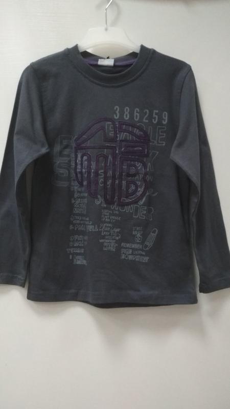 Лонгслив, футболка, с длинными рукавами, темно-серого цвета, m...