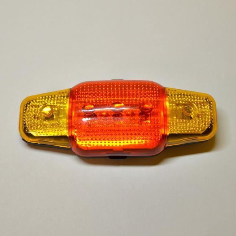 Фонарь 5-ти диодный для велосипеда/автомобиля. Габарит желтый/...