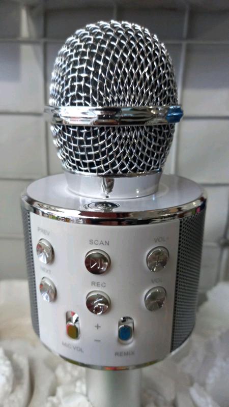 Беспроводной Bluetooth Караоке микрофон WS-858 - Фото 13