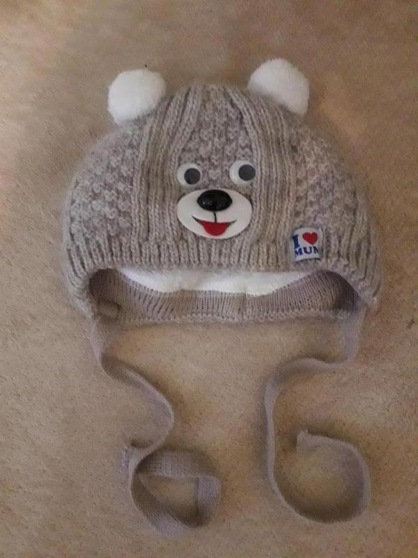 Теплая шапочка, шапка для новорожденного - Фото 2