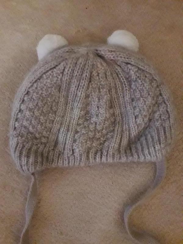 Теплая шапочка, шапка для новорожденного - Фото 4