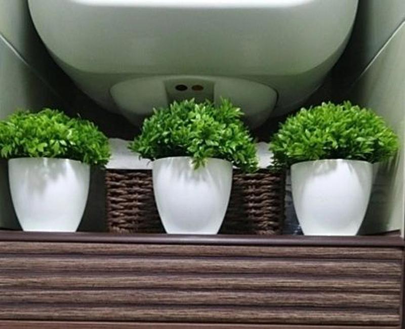 Декоративные горшочки с искуственной травой кашпо букет декор ... - Фото 2