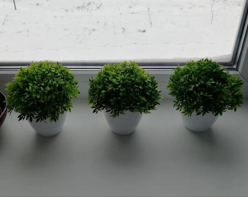 Декоративные горшочки с искуственной травой кашпо букет декор ... - Фото 3