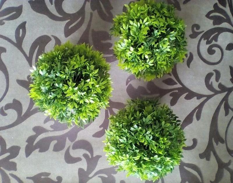 Декоративные горшочки с искуственной травой кашпо букет декор ... - Фото 6