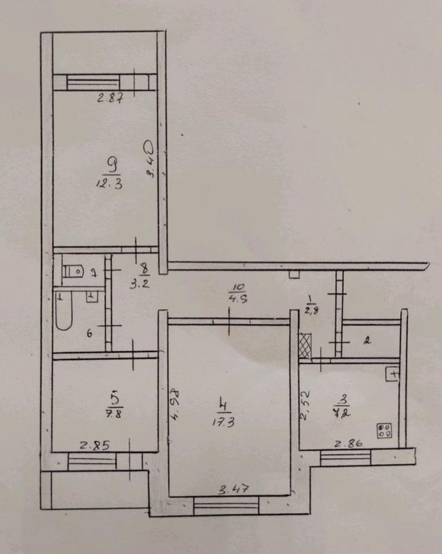 Продам 3 ком квартиру Левый берег