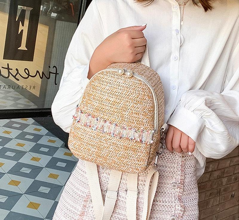 Рюкзачок плетеный, рюкзак соломенный
