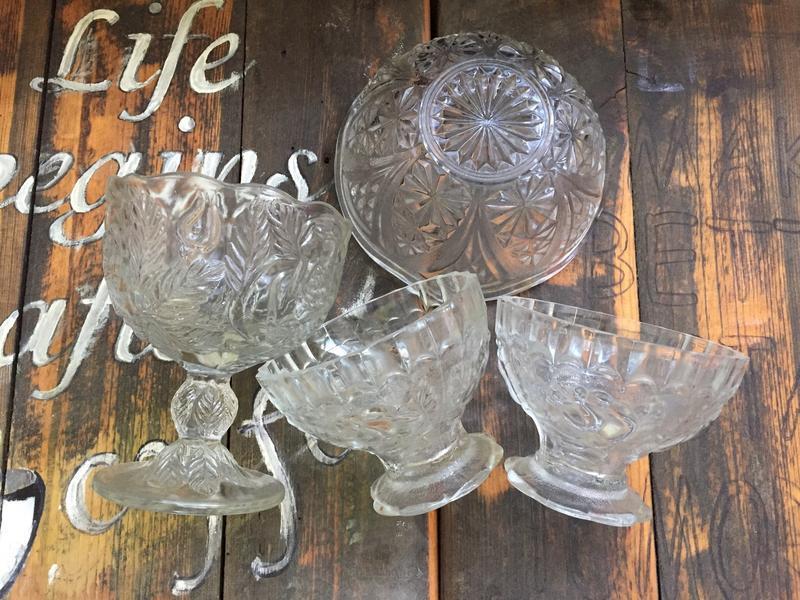 Хрустальные подставки тарелки пиалы
