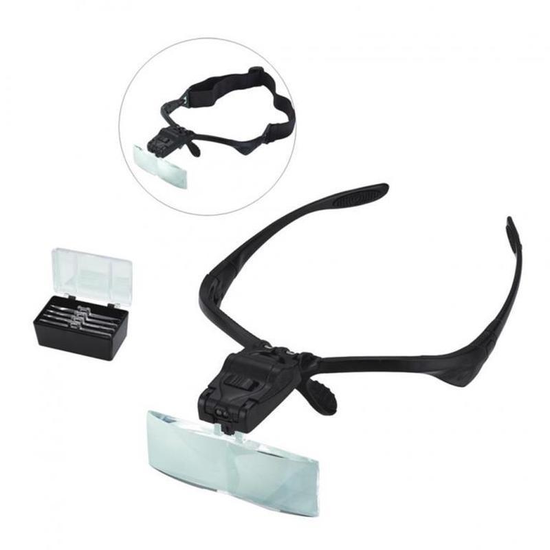 Лупа налобная бинокулярная очки 1x - 3,5x
